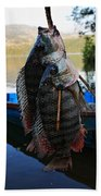 The Catch - Begnas Lake - Nepal Hand Towel