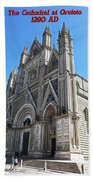 The Cathedral At Orvieto Bath Towel