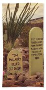 The Cemetery At Boothill Bath Towel