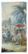The Chinese Fair, C.1742 Oil On Canvas Bath Towel