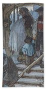 The Christening Gate In Lausanne, C.1861 Hand Towel
