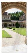 The Cloister Courtyard - Cloister Fontenay Bath Towel