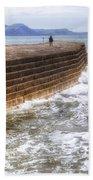 The Cobb - Lyme Regis Bath Towel
