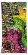 The Color Of Music In The Way Of Arcimboldo Bath Towel