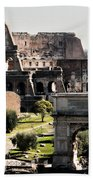 The Colosseum Through The Forum Bath Towel