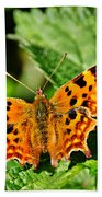 The Comma -- Polygonia C-album Bath Towel