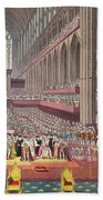 The Coronation Of King William Iv And Queen Adelaide, 1831 Colour Litho Bath Towel