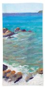The Cottage View Bath Towel by Candace Lovely