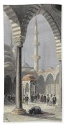 The Court Of The Mosque Of Sultan Bath Towel