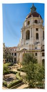 The Courtyard - Beautiful Pasadena City Hall. Bath Towel