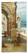The Courtyard Of A Renaissance Palace Bath Towel