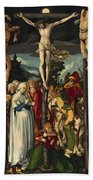 The Crucifixion Of Christ Bath Towel