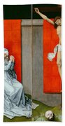 The Crucifixion With The Virgin And Saint John The Evangelist Mourning Bath Towel