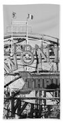 The Cyclone In Black And White Bath Towel