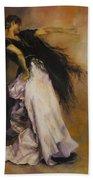 The Dancer Bath Towel by Diane Kraudelt