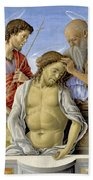 The Dead Christ Supported By Saints Bath Towel