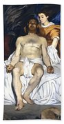 The Dead Christ With Angels Bath Towel