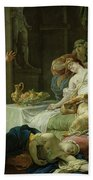 The Death Of Cleopatra, 1755 Oil On Canvas Bath Towel