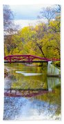 The Delaware Canal Near New Hope Pa In Autumn Bath Towel