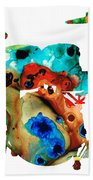 The Drums - Music Art By Sharon Cummings Hand Towel
