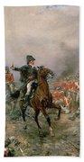 The Duke Of Wellington At Waterloo Hand Towel