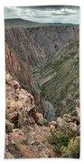 The Edge Of Back Canyon Bath Towel