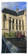 The Eglise De Saint-eustache Paris France  Bath Towel