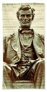The  Emancipation Proclamation And Abraham Lincoln Bath Towel