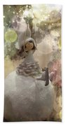 The Fairy Of Winter Lights Bath Towel