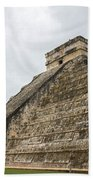 The Famous Kulkulcan Pyramid At Chichen Itza Bath Towel