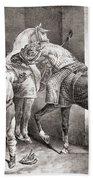 The Farrier, From Etudes De Cheveaux Hand Towel