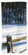 The Fence Line Bath Towel