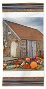 The Fishing Village Scene Bath Towel