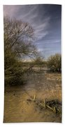 The Floods At Stoke Canon  Bath Towel