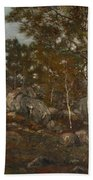 The Forest Of Fontainebleau Hand Towel