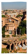 The Forum From The Palatine Bath Towel