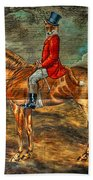 The Fox Hunt With Light Antique Store Mural Griffin Georgia Art Bath Towel