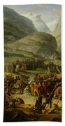 The French Army Travelling Over The St. Bernard Pass At Bourg St. Pierre, 20th May 1800, 1806 Oil Bath Towel