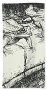 The Frogs And The Well Bath Towel