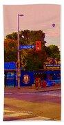 The Georgetown Sports Pub Soccer Bar Bank St The Glebe Paintings Of Ottawa Carole Spandau Artist Bath Towel