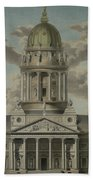 The German Cathedral On The Gendarmenmarkt Bath Towel
