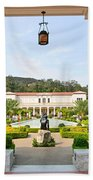 The Getty Villa Main Courtyard View From Covered Walkway. Bath Towel