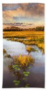 The Glades At Sunset Bath Towel