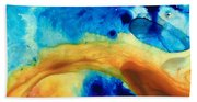 The Golden Gate - Abstract Art By Sharon Cummings Hand Towel