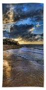 the golden hour during sunset at Israel Bath Towel