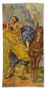 The Good Samaritan - After Delacroix Bath Towel
