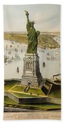 The Great Bartholdi Statue Bath Towel