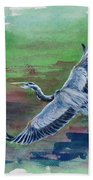 The Great Blue Heron Hand Towel