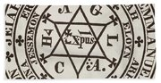 The Great Magic Circle Of Agrippa For The Evocation Of Demons Hand Towel