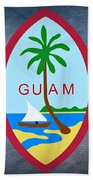 The Great Seal Of Guam Territory Of Usa  Bath Towel